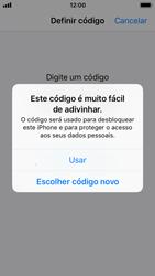 Apple iPhone SE - iOS 11 - Segurança - Como ativar o código de bloqueio do ecrã -  8