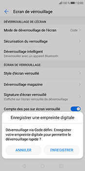 Huawei P Smart - Sécuriser votre mobile - Activer le code de verrouillage - Étape 12