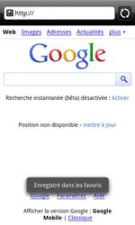 HTC A7272 Desire Z - Internet - Navigation sur Internet - Étape 6