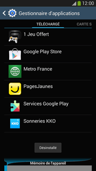 Samsung Galaxy Note 3 - Applications - Supprimer une application - Étape 9