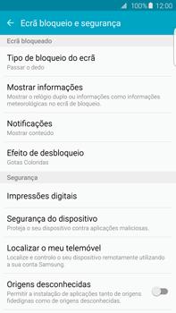 Samsung Galaxy S6 Edge + - Segurança - Como ativar o código de bloqueio do ecrã -  5