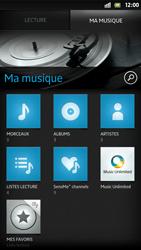 Sony Xpéria S - Photos, vidéos, musique - Ecouter de la musique - Étape 5
