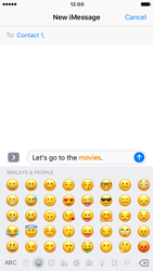 Apple iPhone 7 - iOS features - Send iMessage - Step 13