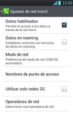 LG Optimus L7 - Internet - Configura el Internet - Paso 9