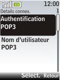 Nokia 2720 fold - E-mail - Configuration manuelle - Étape 16