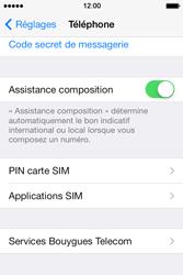 Apple iPhone 4S - Sécuriser votre mobile - Personnaliser le code PIN de votre carte SIM - Étape 4