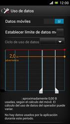 Sony Xperia J - Internet - Ver uso de datos - Paso 5
