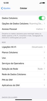 Apple iPhone X - iOS 13 - Rede móvel - Como ativar e desativar uma rede de dados - Etapa 4