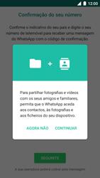BQ Aquaris U - Aplicações - Como configurar o WhatsApp -  6