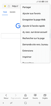 Samsung Galaxy Note 8 - Internet - Navigation sur Internet - Étape 19