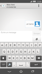 Sony Xperia Z2 - Contact, Appels, SMS/MMS - Envoyer un SMS - Étape 9
