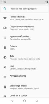 Motorola One - Rede móvel - Como selecionar o tipo de rede adequada - Etapa 4