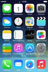 Apple iPhone 4S iOS 7 - Red - Seleccionar el tipo de red - Paso 2