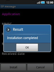 Samsung S5570 Galaxy Mini - MMS - Automatic configuration - Step 7