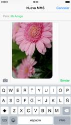 Apple iPhone 6 iOS 8 - Mensajería - Escribir y enviar un mensaje multimedia - Paso 13