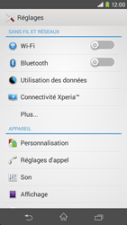 Sony Xpéria M2 - Internet et connexion - Activer la 4G - Étape 4