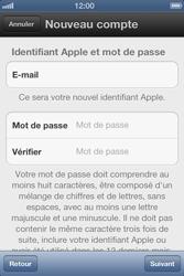 Apple iPhone 4 S - Applications - Créer un compte - Étape 8