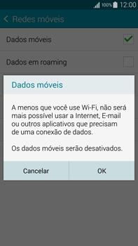 Samsung N910F Galaxy Note 4 - Rede móvel - Como ativar e desativar uma rede de dados - Etapa 7