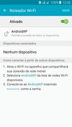 Samsung Galaxy J5 - Wi-Fi - Como usar seu aparelho como um roteador de rede wi-fi - Etapa 11