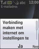 Nokia 2330 classic - E-mail - Handmatig instellen - Stap 12
