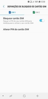 Samsung Galaxy A8 (2018) - Segurança - Como ativar o código PIN do cartão de telemóvel -  10