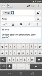 Sony Xperia M2 - E-mail - Escribir y enviar un correo electrónico - Paso 10