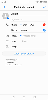 Huawei P20 - Contact, Appels, SMS/MMS - Ajouter un contact - Étape 8