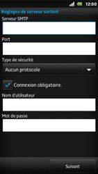 Sony ST25i Xperia U - E-mail - Configuration manuelle - Étape 13