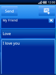 Sony Ericsson Xperia X10 Mini - Email - Sending an email message - Step 8