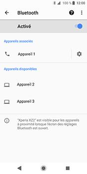Sony Xperia XZ2 - Internet et connexion - Connexion avec un équipement multimédia via Bluetooth - Étape 10