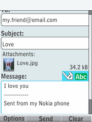 Nokia 301-1 - E-mail - Sending emails - Step 17