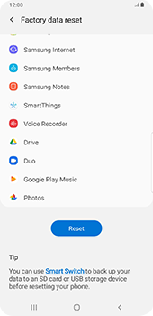 Samsung galaxy-s9-plus-android-pie - Device - Factory reset - Step 8