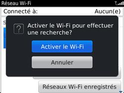 BlackBerry 9720 - Internet et connexion - Accéder au réseau Wi-Fi - Étape 6