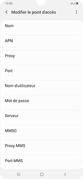 Samsung Galaxy A50 - Internet - configuration manuelle - Étape 12