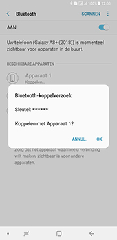 Samsung Galaxy A8 Plus - Bluetooth - headset, carkit verbinding - Stap 8