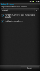 Sony LT26i Xperia S - E-mail - Configuration manuelle - Étape 14
