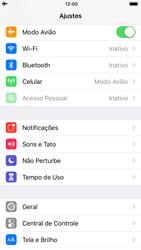 Apple iPhone 6 - iOS 12 - Rede móvel - Como ativar e desativar o modo avião no seu aparelho - Etapa 4