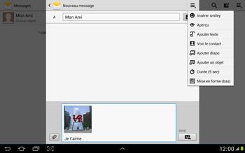 Samsung N8000 Galaxy Note 10-1 - MMS - envoi d'images - Étape 14