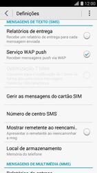 Huawei G620s - SMS - Como configurar o centro de mensagens -  5