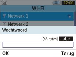 Samsung S3570 Chat 357 - Wifi - handmatig instellen - Stap 6