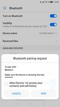 Huawei Mate 9 - WiFi and Bluetooth - Setup Bluetooth Pairing - Step 6