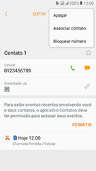 Samsung Galaxy J2 Prime - Chamadas - Como bloquear chamadas de um número específico - Etapa 7