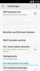 Huawei Ascend Y550 - SMS - Handmatig instellen - Stap 7