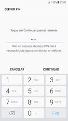 Samsung Galaxy S7 - Android Nougat - Segurança - Como ativar o código de bloqueio do ecrã -  8