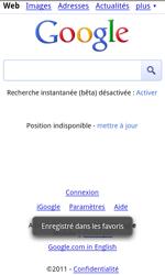 HTC S510e Desire S - Internet - navigation sur Internet - Étape 7