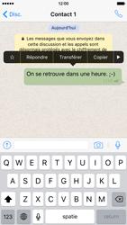 Apple iPhone 6 iOS 9 - WhatsApp - Partager des photos et votre emplacement avec WhatsApp - Étape 10