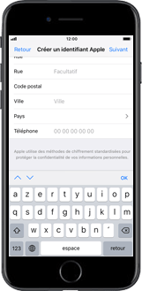 Apple iPhone X - Applications - Créer un compte - Étape 16