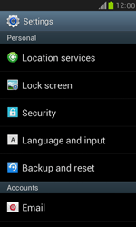 Samsung I8190 Galaxy S III Mini - Device - Reset to factory settings - Step 5