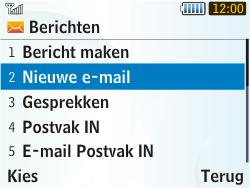 Samsung S3350 Chat 335 - E-mail - e-mail versturen - Stap 3