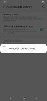 Samsung Galaxy A20 - Funções básicas - Como atualizar o software do seu aparelho - Etapa 6